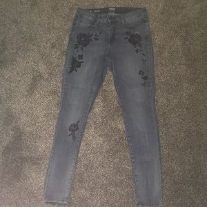 Jeans with flower  designs